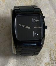 Nixon Count It The Banks Men 100m Dual Time Analog Quartz Watch Hour~New Battery