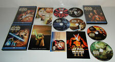 Star Wars Saga Prequel Trilogy I, II, III,  DVD Discs Full screen MINT Discs!