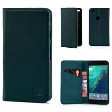 32nd Classic Series - Real Leather Book Wallet Case Cover for Google Pixel XL G.pixelxl.32ndclassic-racinggreen Racing Green