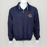Spotlight NFL Chicago Bears Men's Blue White Quarter Zip Jacket Size Medium M