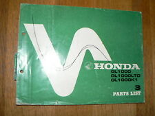 HONDA GL1000 & LTD & K1 GOLDWING PARTS LIST 1977  MOTORRAD BIKE GL 1000 B