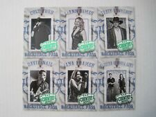 2014 Panini Country Music Backstage Pass Green Parallel Insert Set  (20 Cards)