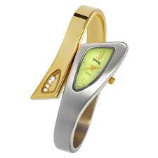 Top Edle Tavolino Designer Damenuhr Spangenuhr Gold Silber Grün Armbanduhr Uhr