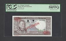 Lao 100 Kip ND(1974) P16s Specimen TDLR About Uncirculated