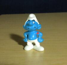 Smurfs 20429 Hefty Smurf Heart Tattoo Rare Vintage Figure PVC Toy Figurine Peyo