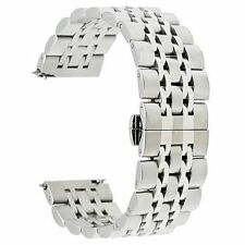 Samsung Gear S3 Watch Band Stainless Steel Strap Butterfly  22mm Quick Release