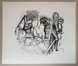 Renato Guttuso Lithographie 1969