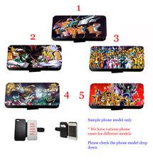 Saint Seiya Manga Inspired leather wallet phone case for iPhone Xperia Samsung