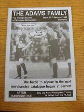 Jan-1998 Wycombe Wanderers: FANZINE-LA FAMIGLIA ADAMS EDIZIONE 30. grazie per la vista