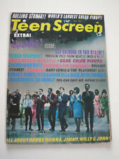 TEEN SCREEN MAGAZINE July 1965 ROLLING STONES POSTER THE KINKS SUPREMES BEAT POP