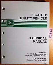 John Deere E Gator Utility Vehicle Technical Manual TM1766 3/00