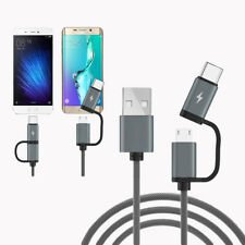 Fashion 2 in 1 Type C Cable QC 3.0 Quick Charge Data Sync for Samsung Huawei