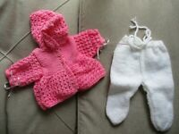 """Doll Clothes  Matinee set Handmade fit Bitty Baby 15"""" Berenguer LaBaby14"""""""