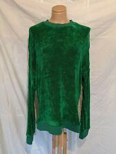 Tibi Emerald Green Velour Sweater Sz L