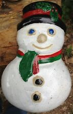 Snowman 2, Stepping Stone, Plaque,  Concrete Molds, plastic mold, mould