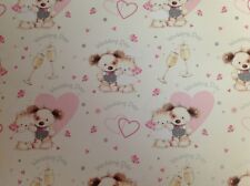 2 Sheets Wrapping Gift Paper ON YOUR WEDDING DAY Congratulations Good Luck
