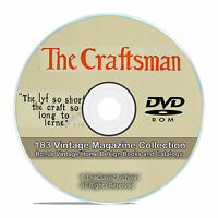 The Craftsman Magazine 183 Issue Collection, Gustav Stickley House Plans DVD V77