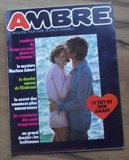 Ambre N° 10 1971 femina couple sexualité Marlene Jobert lesbiennes Rimbaud