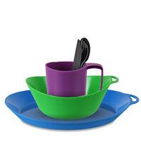 Lifeventure Ellipse - Camping Mug, Plate, Bowl, Cutlery - 4 colours  mix & match