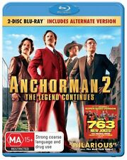 Anchorman 2: The Legend Continues (2 Disc Blu-ray The . - BLU-RAY - NEW Region B