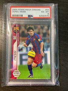 2006 Lionel Messi Panini Megacracks PSA 6 #54 EX-MT Barcelona PSG Low Pop