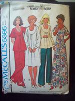 Vintage McCalls Pattern 5395 Pounds Thinner Dress Pants Top Cut Size 12  c.1970s