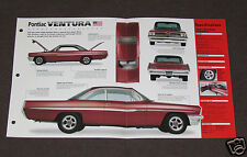 1961 PONTIAC VENTURA CUSTOM Car SPEC SHEET BROCHURE PHOTO BOOKLET