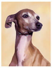 artav Italian Greyhound 01 Art Print Dog Puppy Painting
