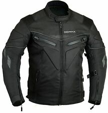 Spine Paded Motorcycle Jacket Waterproof Breathable With Armours XL