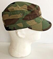 UNISSUED USGI WOODLAND CAMO ARMY HOT WEATHER BDU CAP (7 1/4)