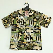 Vintage Mambo Loud Shirt, Cars and Numbers Made in Indonesia Ex Cond Size 10