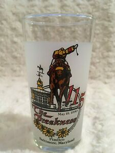 THE 115TH PREAKNESS 1990 DRINKING GLASS PIMLICO BALTIMORE MARYLAND Triple Crown