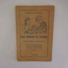 Mon memento de sciences J. ANSCOMBRE 1953 La maison des instituteurs France