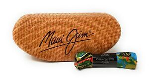 Maui Jim Clam Shell Large Hard Case for Sunglasses w/Cleaning cloth bag, NEW