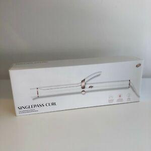 "T3 Singlepass Curl 1.25"" Professional Curling Iron white   nib"