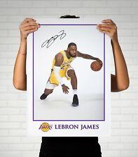 Lebron James NBA Cleveland Cavaliers Autographed Poster Print. A3 A2 A1 Sizes
