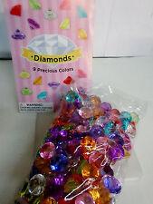 """100 Pcs MULTI COLORED Diamond Table Scatter Confetti Decor Wedding Crystals 3/4"""""""
