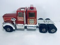 Vintage 1980s Pressed Steel No.1 Tonka Fire Truck Hook and Ladder Cab Only