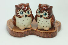 Owl SALT & PEPPER SHAKERS Ceramic Collectibles Kitchenware&Home Figurals Animals