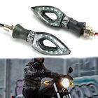 2Pcs Motorcycle LED Turn Signals Tail Light Indicator For Harley Honda Universal