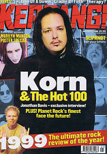 KORN / MARILYN MANSON / SLIPKNOT	Kerrang	no.	783	Jan	8	2000