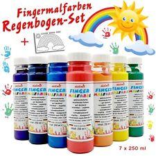 Fingermalfarbe - Regenbogen-Set - ALLES WIRD GUT - 7 x je 250ml vom Hersteller