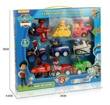 Neu 9PCS PAW PATROL Plüsch Puppe Patrol Racer Pups Kinder Spielzeug Geschenke