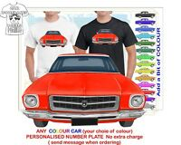 HQ HOLDEN SEDAN 71-74 FRONT CLASSIC ILLUSTRATED T-SHIRT MUSCLE RETRO CAR