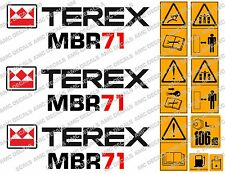 TEREX MBR71 ROLLER DECALS STICKERS
