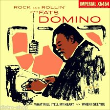 """7"""" FATS DOMINO When I See You /What Will I Tell My Heart IMPERIAL 45rpm USA 1957"""