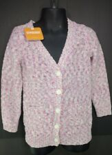 Gymboree Girls Sz Xs 4 Mottled Glitter 2 Pocket Cardigan Pink Lavender White