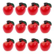 12pcs Plastic Apple Fruit Pendant Keyring Key Chain Phone Hangings DIY Charm