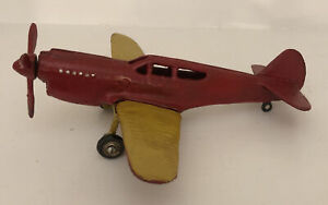 Large CAST IRON Airplane Plane Single Engine Propeller TOY Paperweight