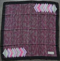 foulard carré en soie fine PIERRE CARDIN 76 cm x 73 cm VINTAGE